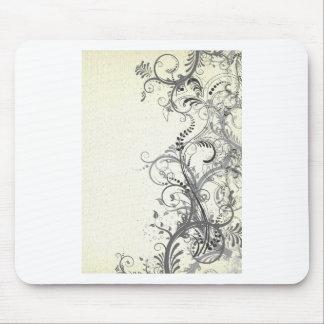 Vintage floral design mouse pads