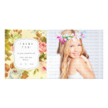 Vintage Floral Dreams - Any Occasion Thank you Photo Card