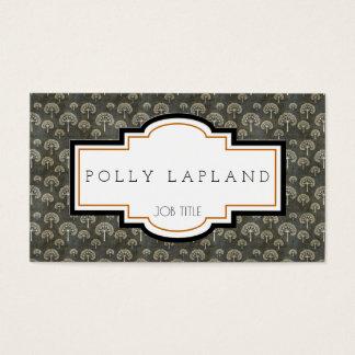 Vintage floral elegant business card