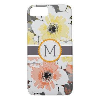 Vintage Floral Elegant Monogram iPhone 8/7 Case