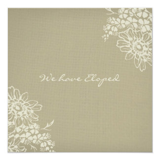 Vintage Floral Elopement Announcement Cards