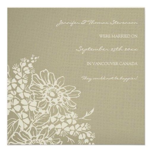 Vintage Floral Elopement Announcement Cards