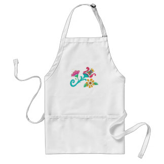 Vintage Floral Embroidery Apron