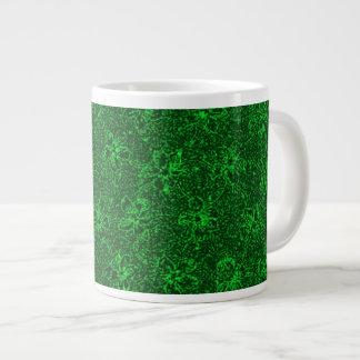 Vintage Floral Emerald Green Violets Jumbo Mugs
