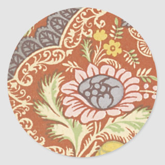 Vintage Floral Fabric (181) Sticker