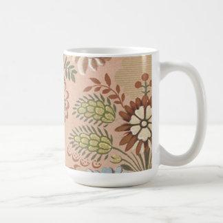 Vintage Floral Fabric (2) Mugs
