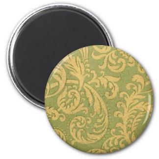 Vintage Floral Fabric (67) 6 Cm Round Magnet