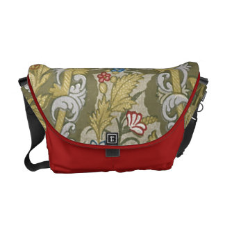 Vintage Floral Fabric Messenger Bag