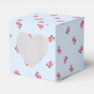 Vintage floral favour boxes