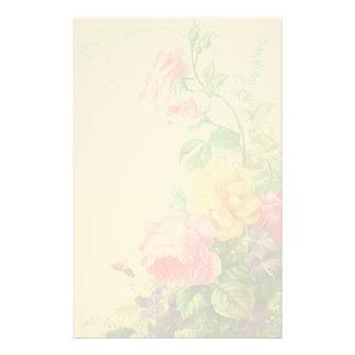 Vintage Floral Felt Stationery