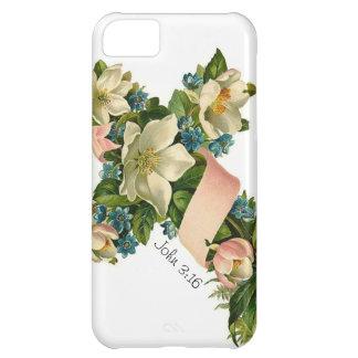 Vintage Floral Flower Cross illustration -iPhone 5 iPhone 5C Case