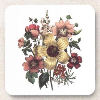 Vintage Floral Flowers Cork Coaster