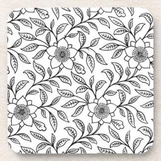 Vintage Floral Flowers Cork Coasters