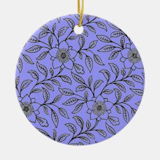 Vintage Floral Flowers Round Ornaments