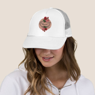 Vintage Floral For love of Music Trucker Hat