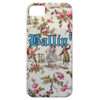 "Vintage Floral Gangsta ""Ballin'"" iPhone 5/5s Case"