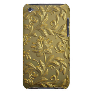 vintage,floral,gold,elegant,chic,beautiful,antique barely there iPod case