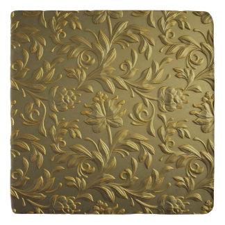 vintage,floral,gold,elegant,chic,beautiful,antique trivet