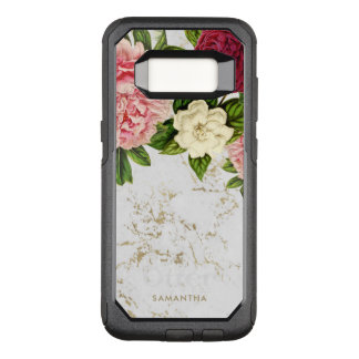 Vintage Floral Gold Marble Custom OtterBox Commuter Samsung Galaxy S8 Case