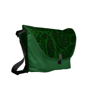 Vintage Floral Green Messenger Bag
