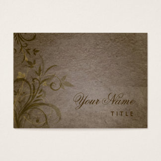 Vintage Floral Grunge Business Card