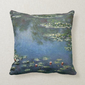 Vintage Floral Impressionism, Waterlilies by Monet Cushion
