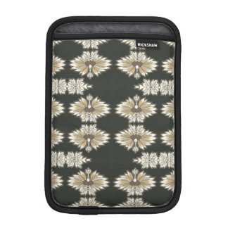 Vintage Floral in Gold and Black iPad Mini Sleeves