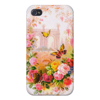 Vintage Floral iPhone Case 4 Covers For iPhone 4