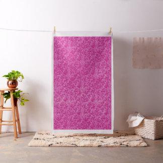 Vintage Floral Lace Leaf Hot Pink Fabric