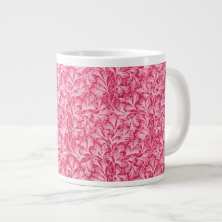 Vintage Floral Lace Leaf White Red Flowers Extra Large Mugs