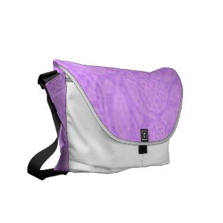 Vintage Floral Lavender Purple Messenger Bag