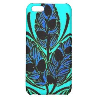 Vintage Floral Leaf Blue Green iPhone 5C Cases
