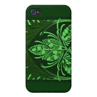 Vintage Floral Leaf Green iPhone 4/4S Covers