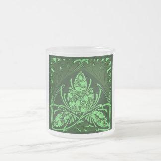 Vintage Floral Leaf Green Coffee Mug