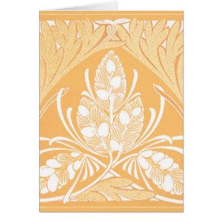 Vintage Floral Leaf Sand Greeting Card