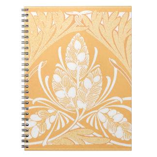 Vintage Floral Leaf Sand Notebook