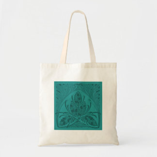 Vintage Floral Leaf Turquoise Canvas Bags