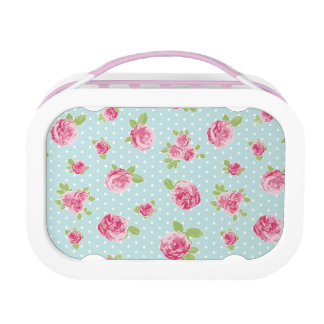 Vintage Floral Lunchbox Shabby Chic Rose