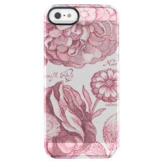 Vintage Floral Marigolds Clear iPhone SE/5/5s Case