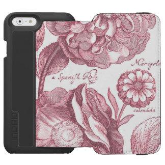 Vintage Floral Marigolds Incipio Watson™ iPhone 6 Wallet Case