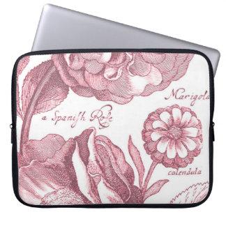 Vintage Floral Marigolds Laptop Sleeve