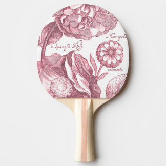 Vintage Floral Marigolds Ping Pong Paddle