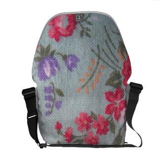 Vintage Floral Messenger Bag
