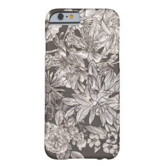Vintage Floral Modern Ivory & Grey Botanical Chic Barely There iPhone 6 Case