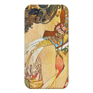 Vintage Floral Mucha iPhone 4 Cases