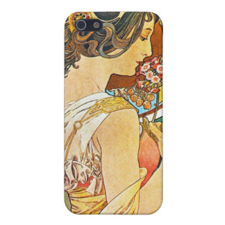Vintage Floral Mucha iPhone 5/5S Cases