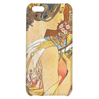 Vintage Floral Mucha iPhone 5C Covers
