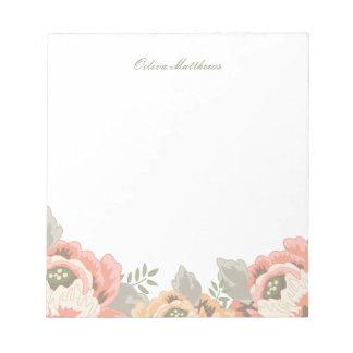 Vintage Floral Notepad