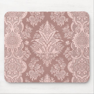 Vintage Floral on Rosy Beige Mouse Pad