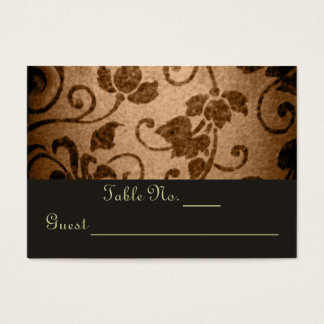 Vintage Floral Parchment Wedding Table PlaceCard Business Card
